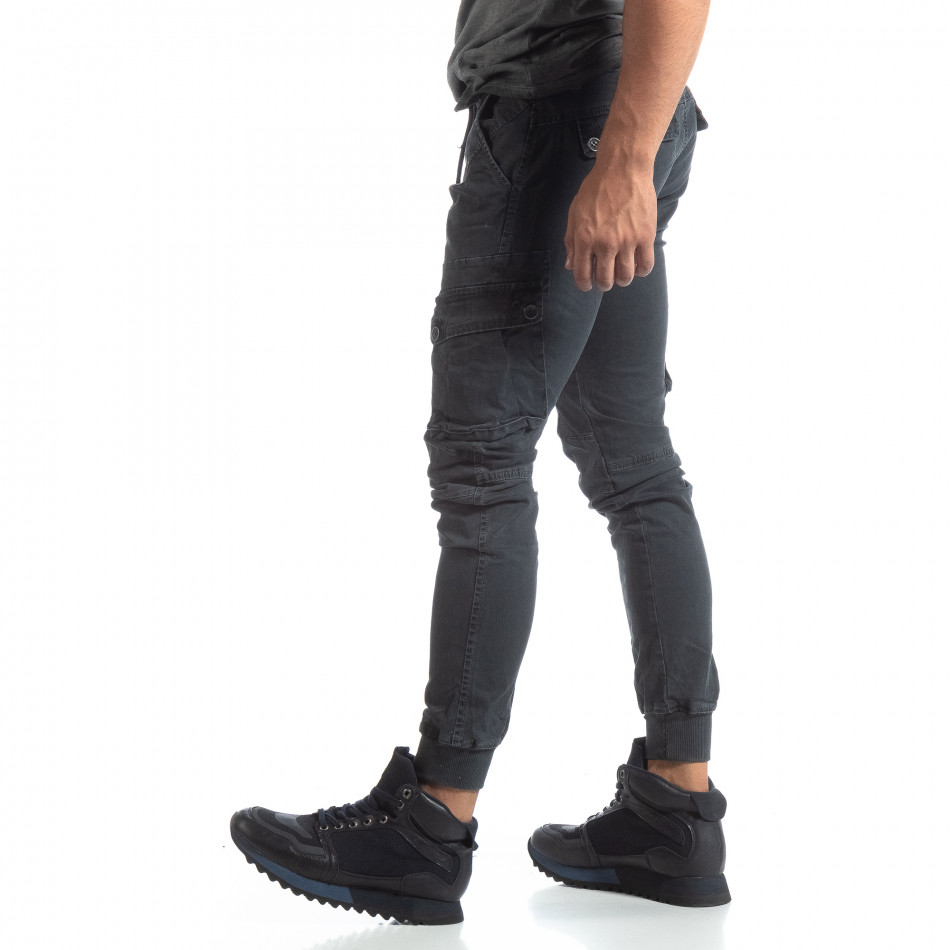 Мъжки сив панталон Cargo Jogger  it170819-9