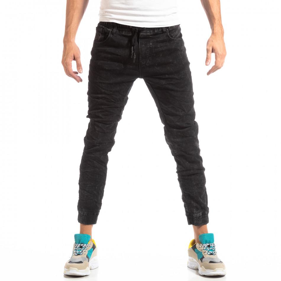Мъжки дънков Jogger в черно it261018-12