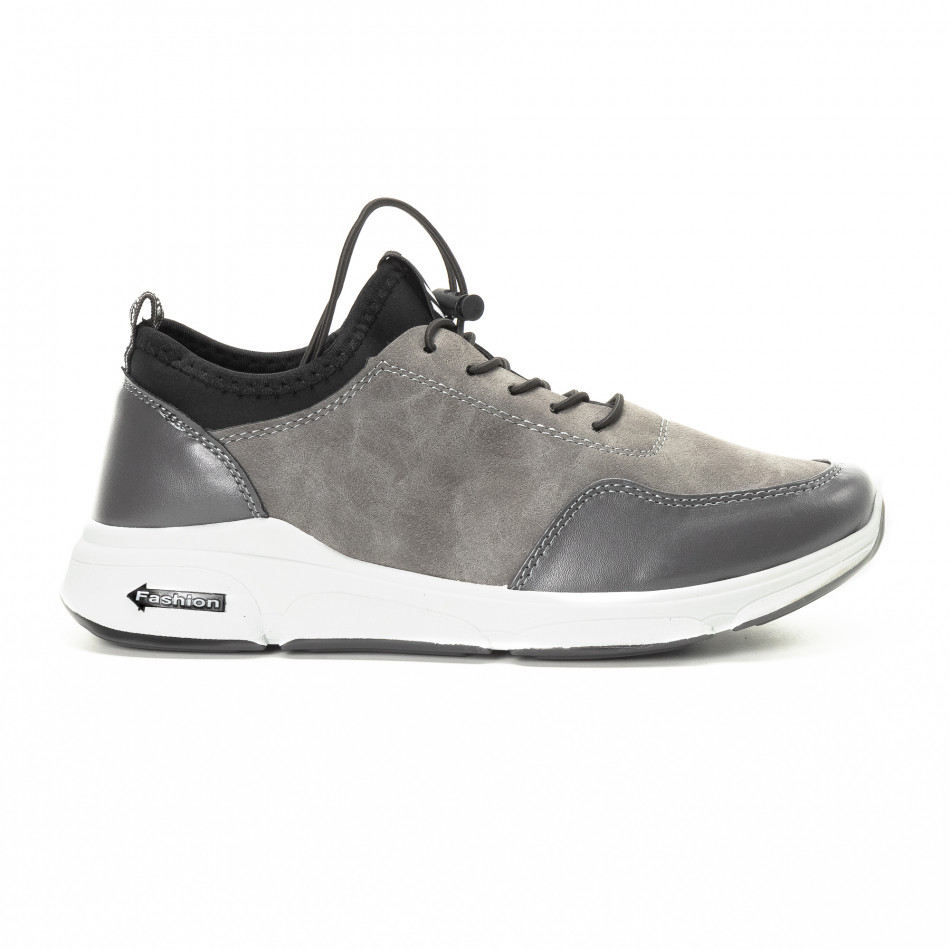 Комбинирани сиви мъжки маратонки it221018-35