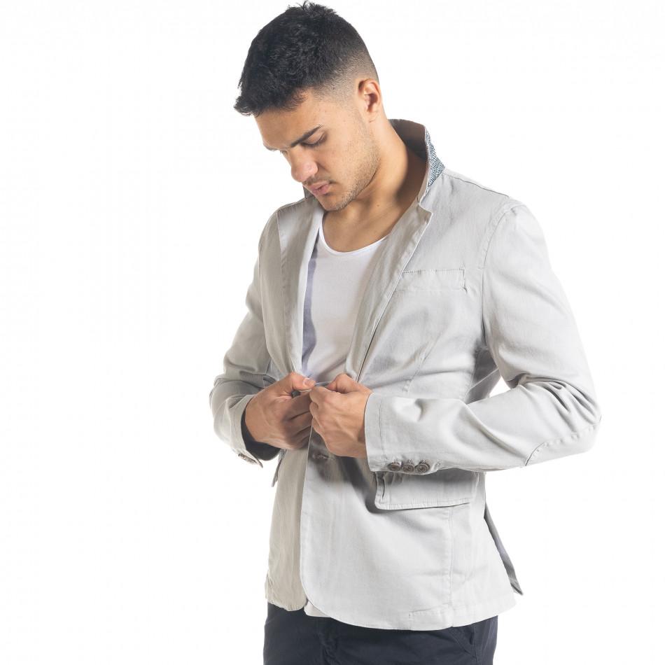 Спортно мъжко сако в сиво it240420-3