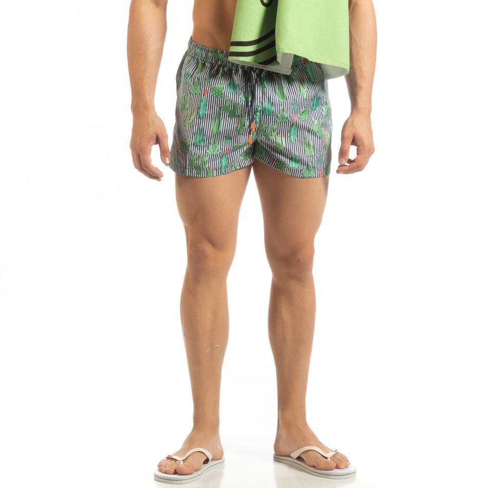 Мъжки син бански Cactus дизайн it090519-99