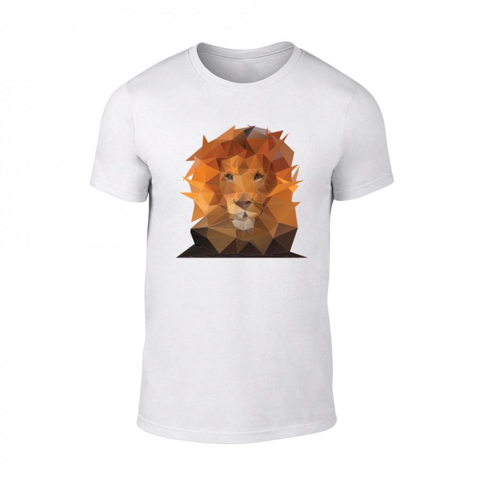 Мъжка бяла тениска Lion TMN-M-201