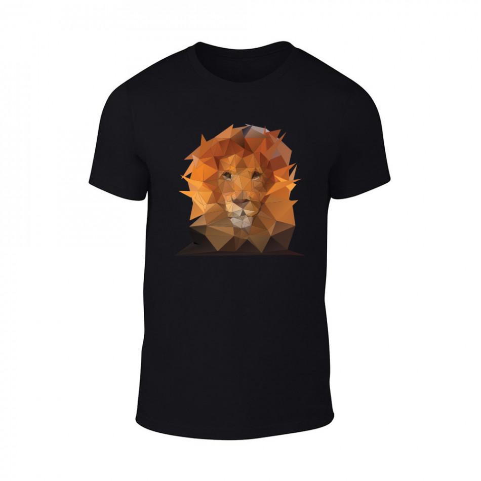 Мъжка черна тениска Lion TMN-M-202