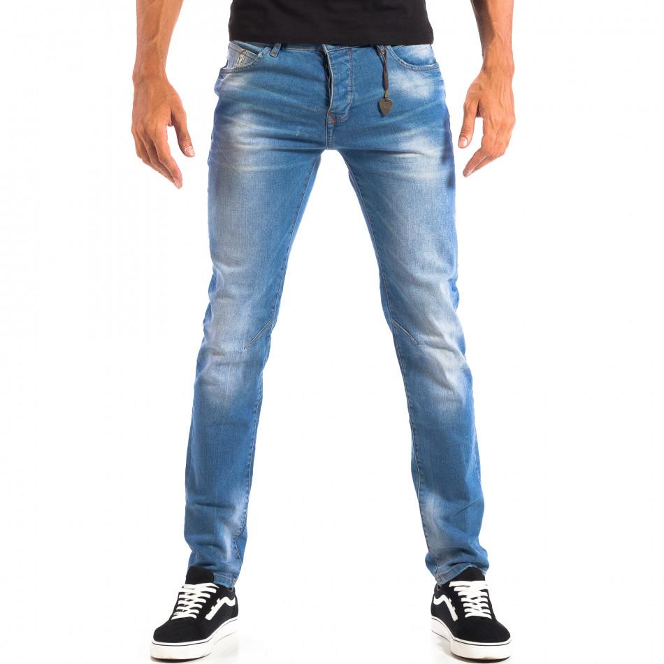 Мъжки сини Slim fit дънки House с аксесоар lp060818-66