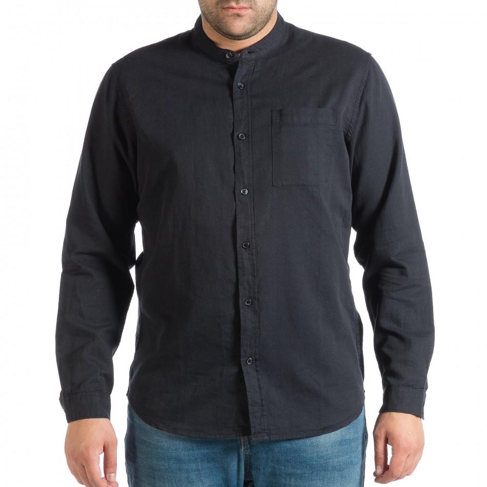Синя мъжка риза със столче яка RESERVED Regular fit lp290918-179