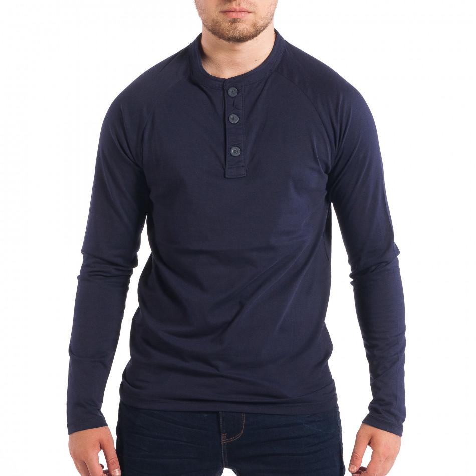 Мъжка синя блуза RESERVED с копчета lp070818-42