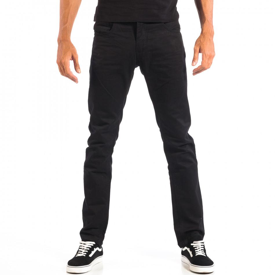 Mъжки черен панталон House lp060818-144