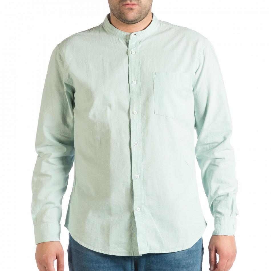 Зелена мъжка риза със столче яка RESERVED Regular fit lp290918-181