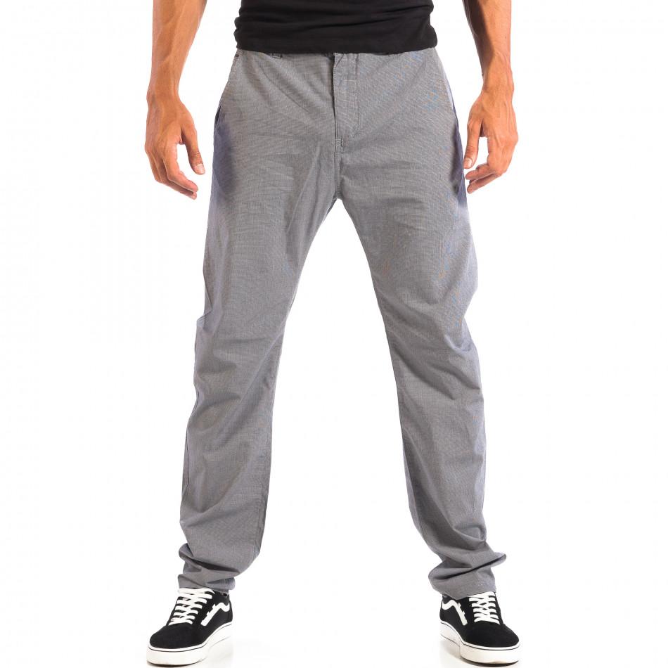 Летен мъжки панталон House в сиво lp060818-106