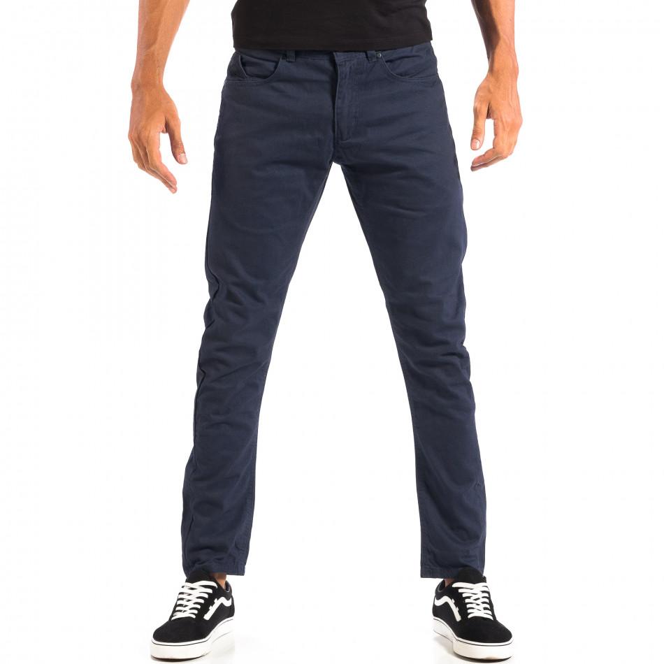 Мъжки тънък панталон CROPP в синьо lp060818-108
