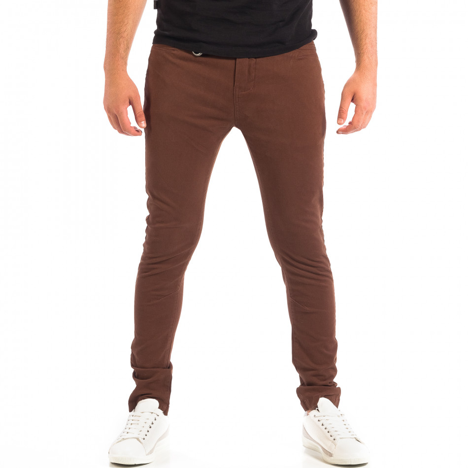 Mъжки кафяв панталон House Slim fit lp060818-96