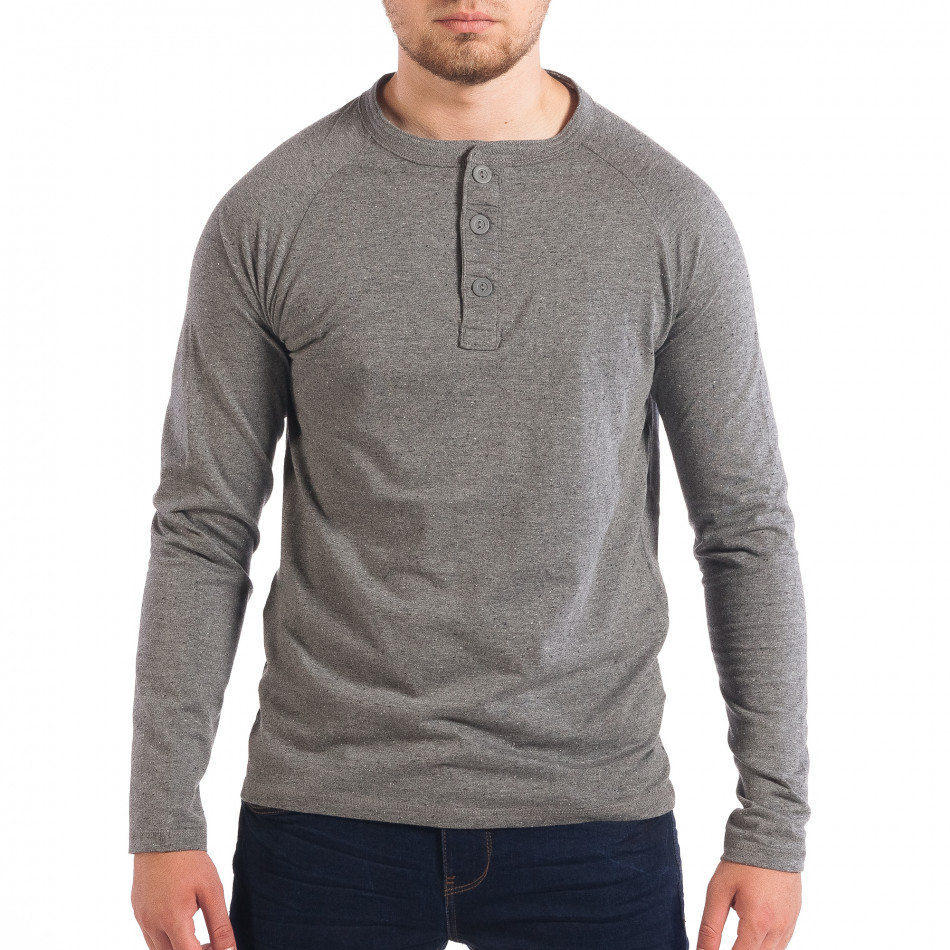 Мъжка сива блуза RESERVED с копчета lp070818-43