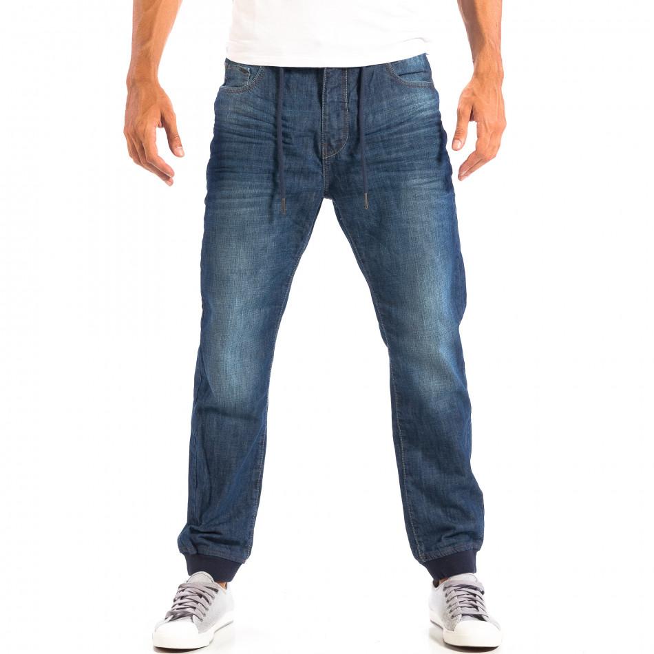 Мъжки сини дънки House Jogger  lp060818-35
