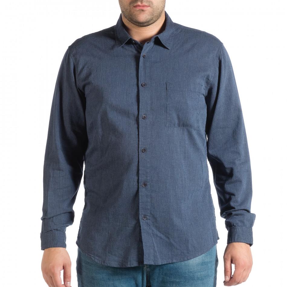 Синя мъжка риза Regular fit RESERVED lp290918-176