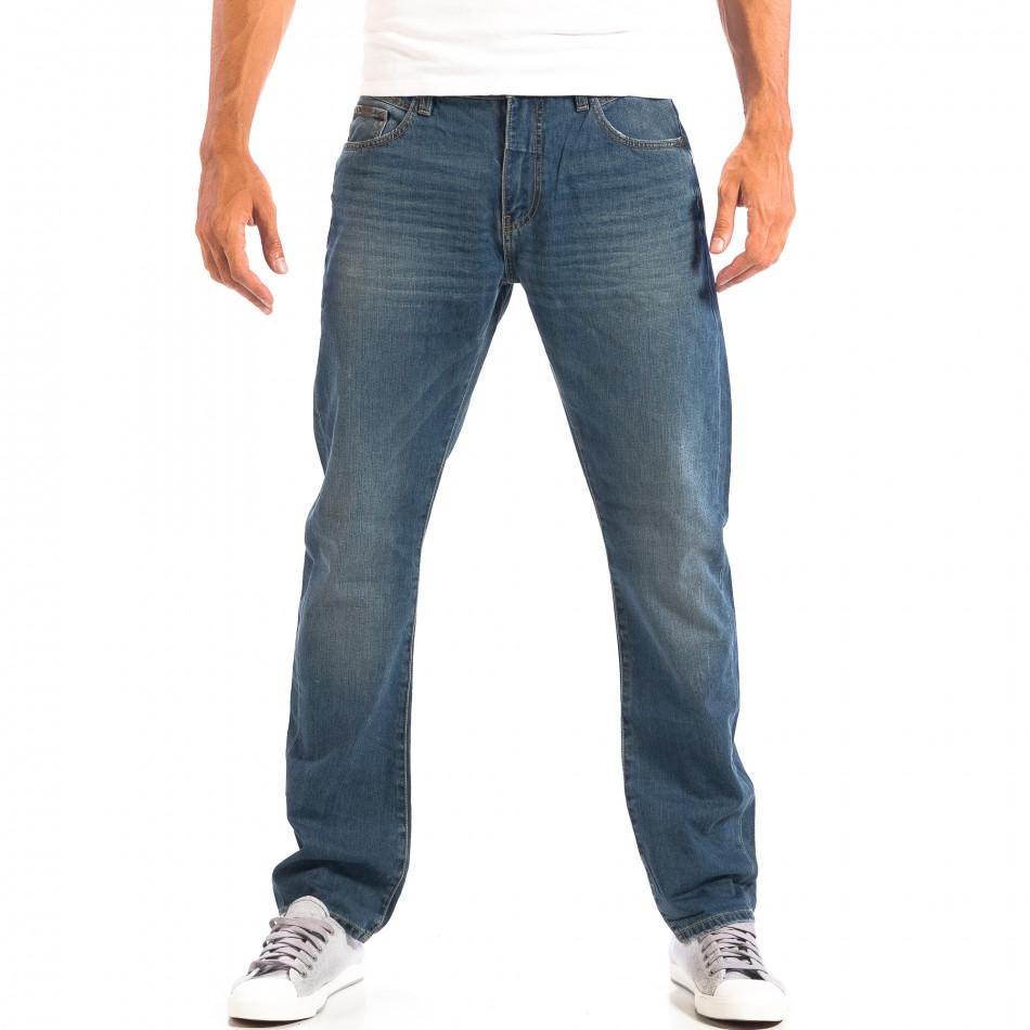 Мъжки сини дънки Vintage стил lp060818-36