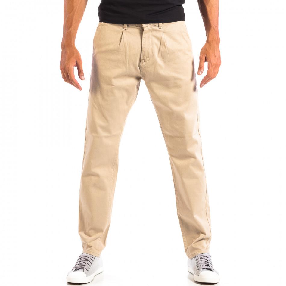 Мъжки бежов панталон RESERVED lp060818-103
