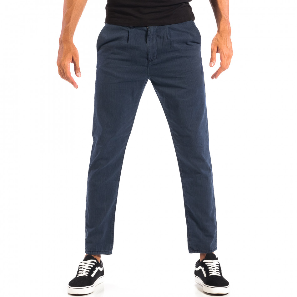 Летен мъжки панталон House синьо райе lp060818-107