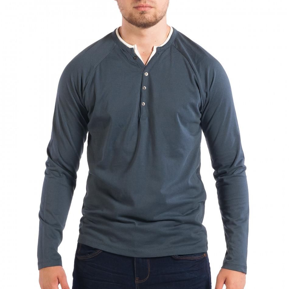 Мъжка синя блуза RESERVED Organic Cotton lp070818-52