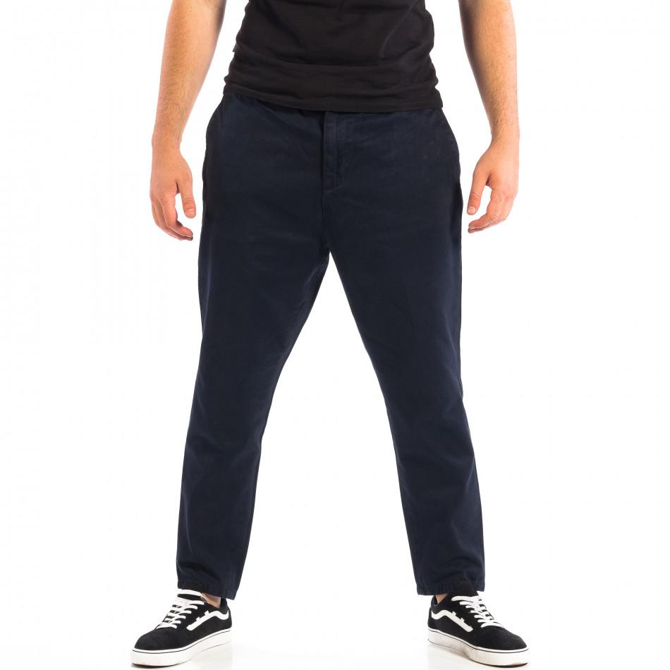 Мъжки син Cropped панталон lp060818-87