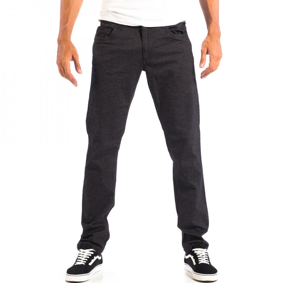 Мъжки Slim панталон RESERVED черен меланж lp060818-111