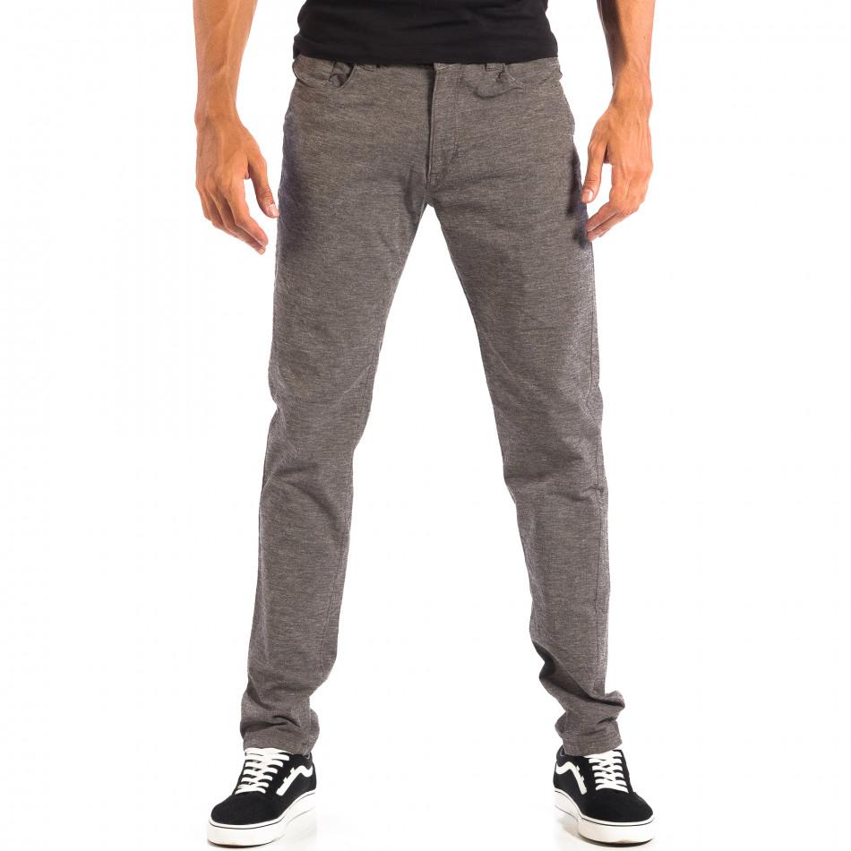 Мъжки Slim панталон RESERVED сив меланж lp060818-105