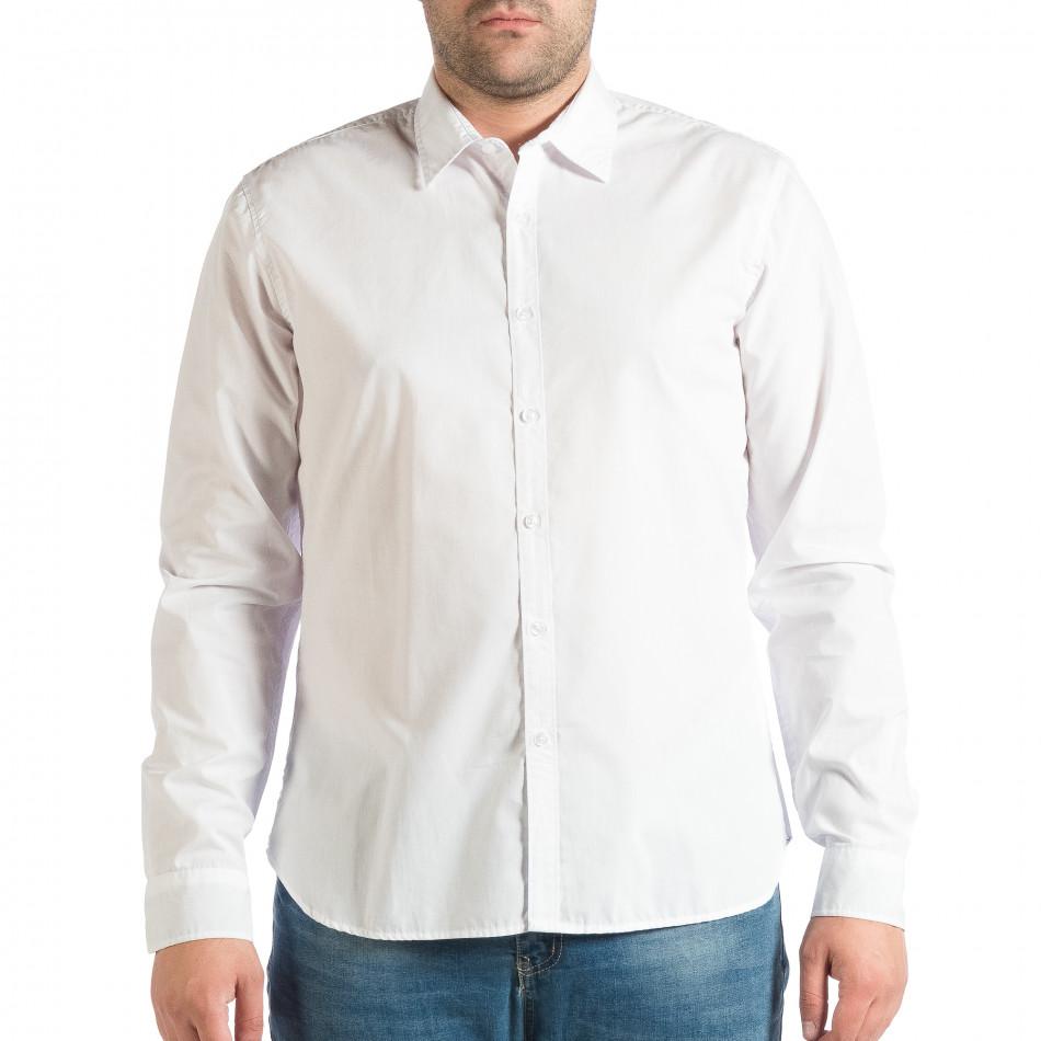 Мъжка бяла риза Slim fit RESERVED lp290918-177