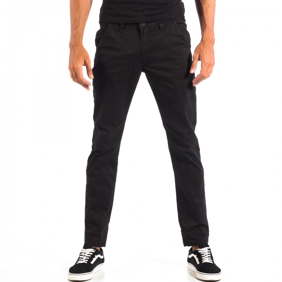 Мъжки черен Chino панталон CROPP lp060818-92