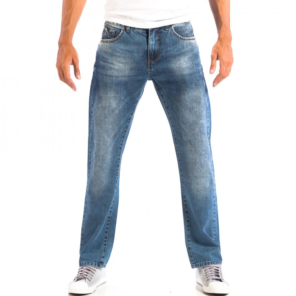 Мъжки сини дънки House ретро стил lp060818-29