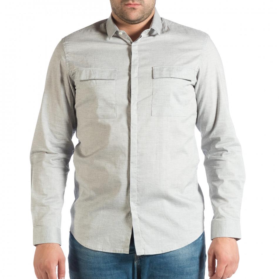 Мъжка риза с джобове RESERVED Regular fit lp290918-185