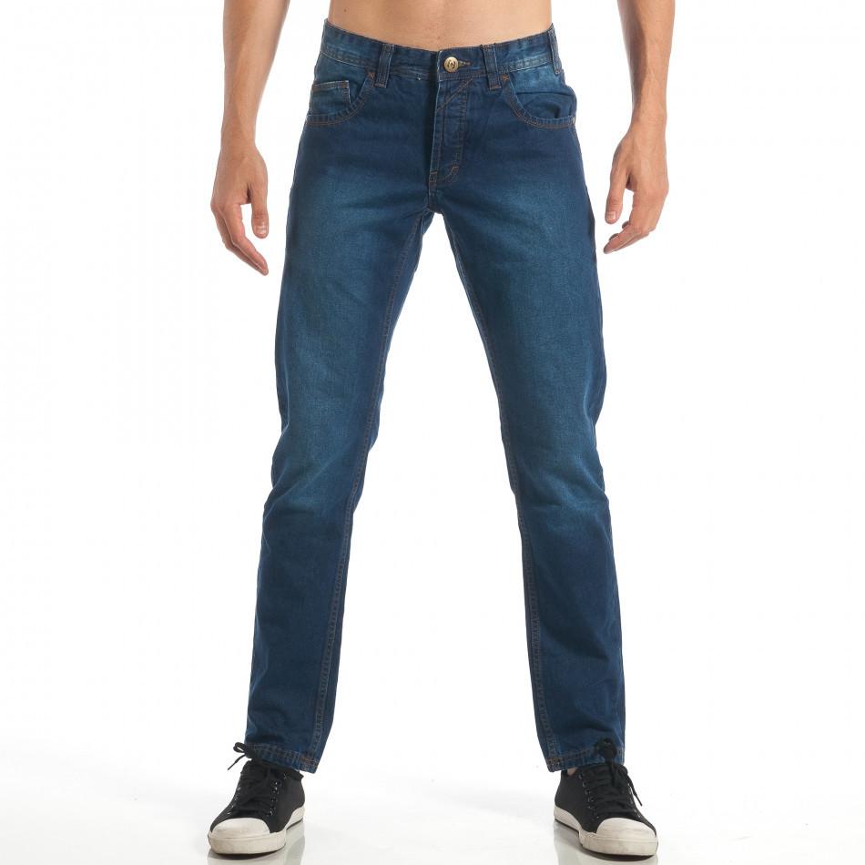 Мъжки сини дънки CROPP Straight fit lp060818-33