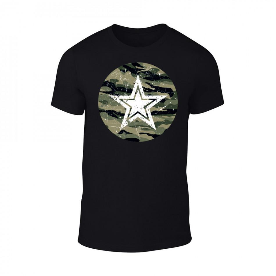Мъжка черна тениска Military Srar TMN-M-092