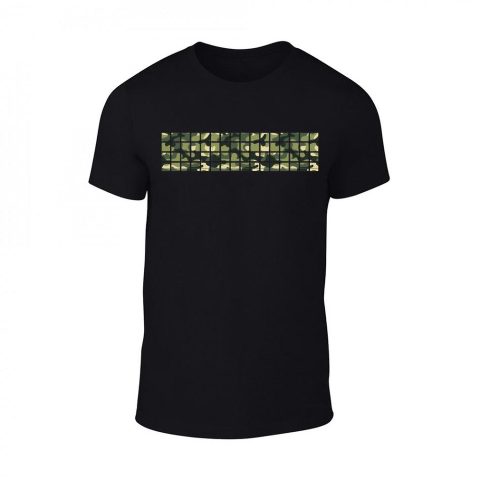 Мъжка черна тениска Military TMN-M-094