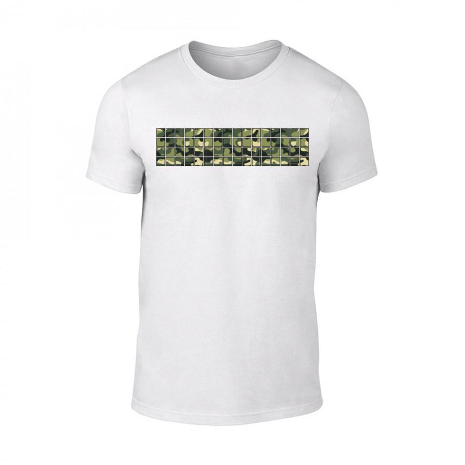 Мъжка бяла тениска Military TMN-M-093