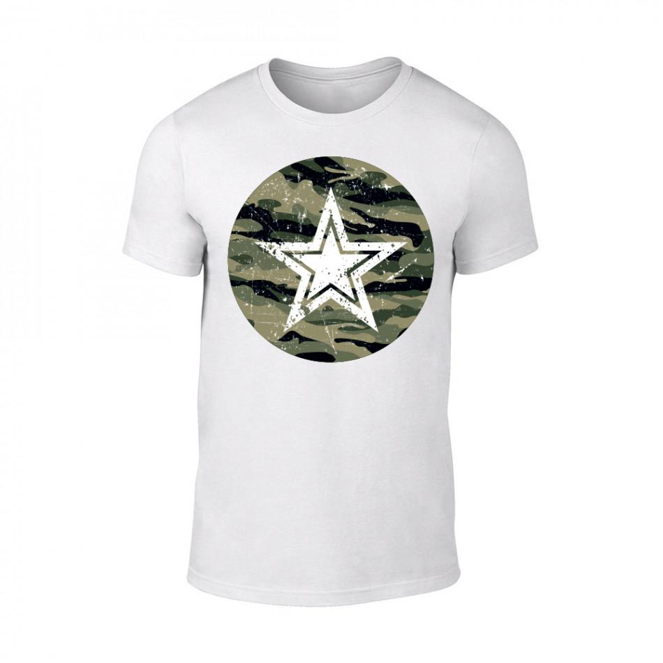 Мъжка бяла тениска Military Star TMN-M-091