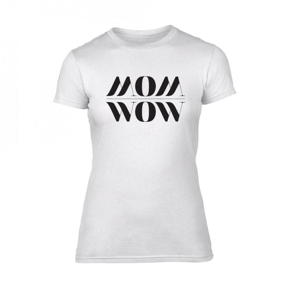 Дамска бяла тениска Mom Wow TMN-F-093