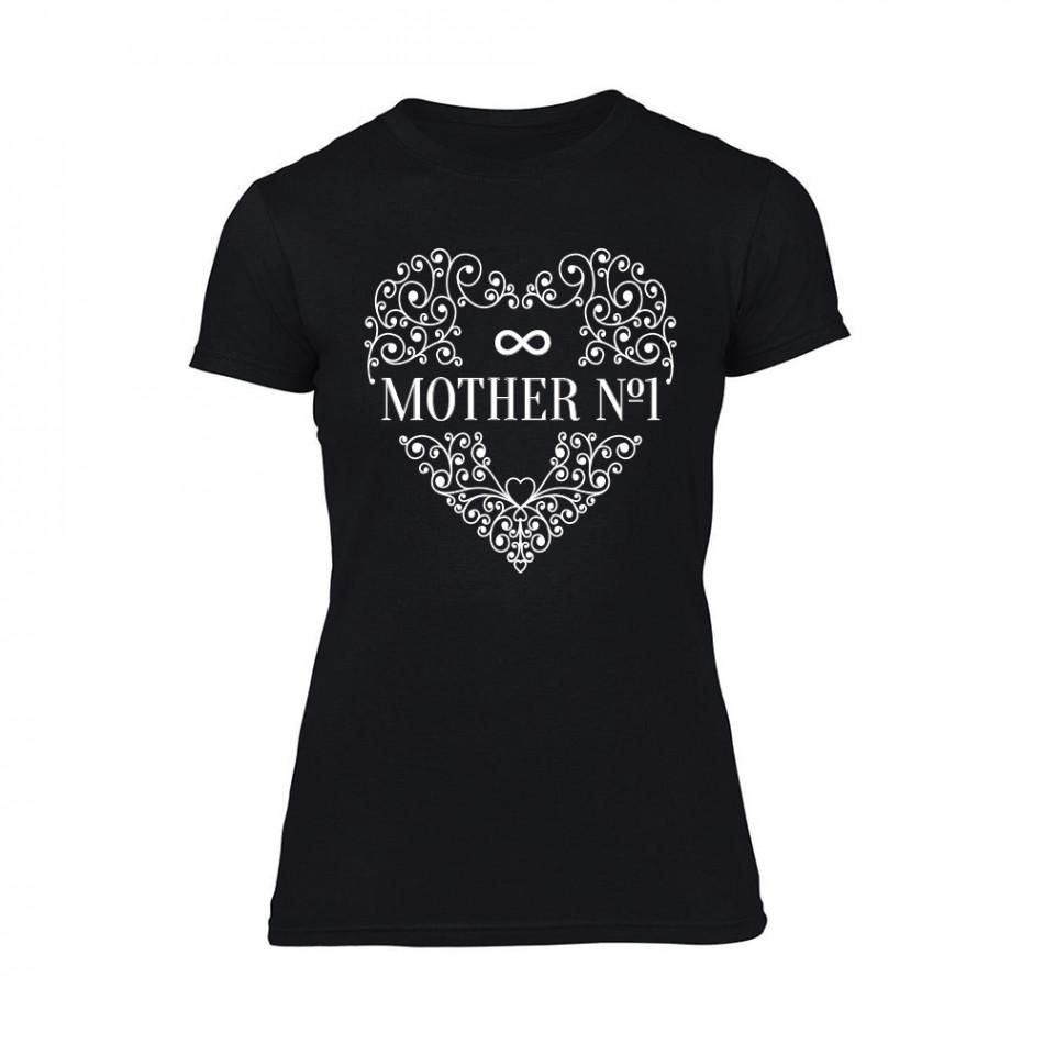 Дамска черна тениска Mother No.1 TMN-F-090