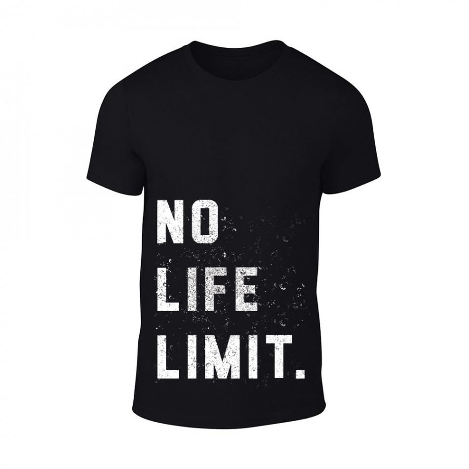 Мъжка черна тениска No Life Limit TMN-M-090