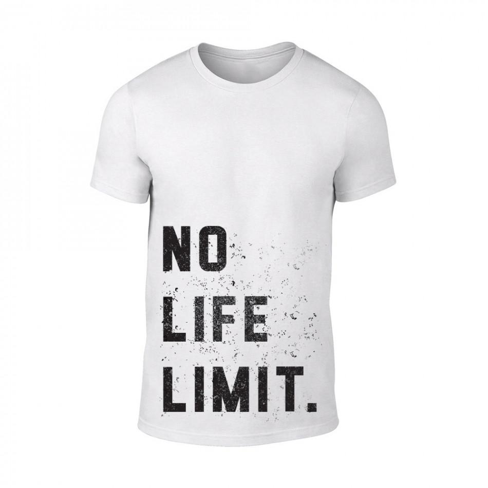 Мъжка бяла тениска No Life Limit TMN-M-089