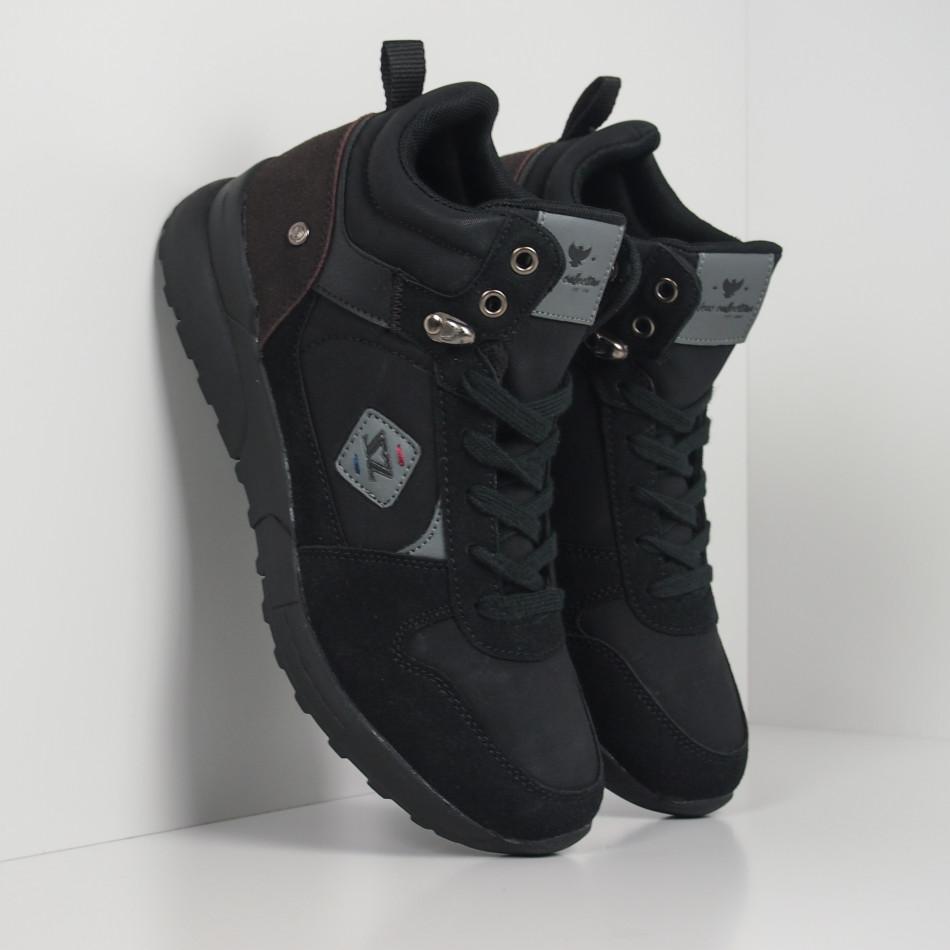 Черни мъжки спортни боти тип кецове it260919-45
