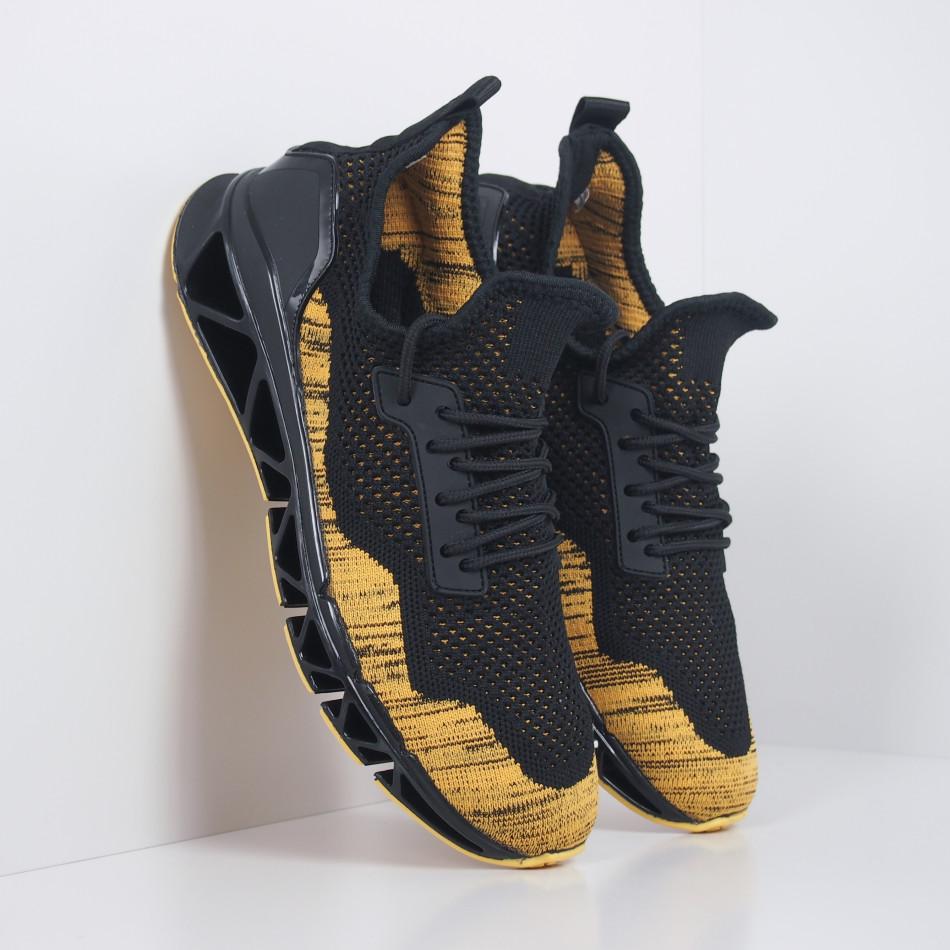 Мъжки маратонки Knife в черно и жълто it251019-23