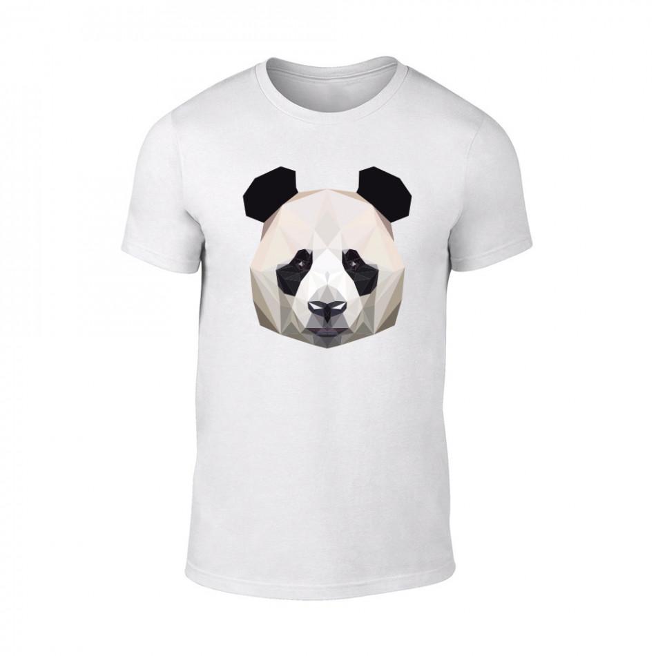 Мъжка бяла тениска Panda TMN-M-193