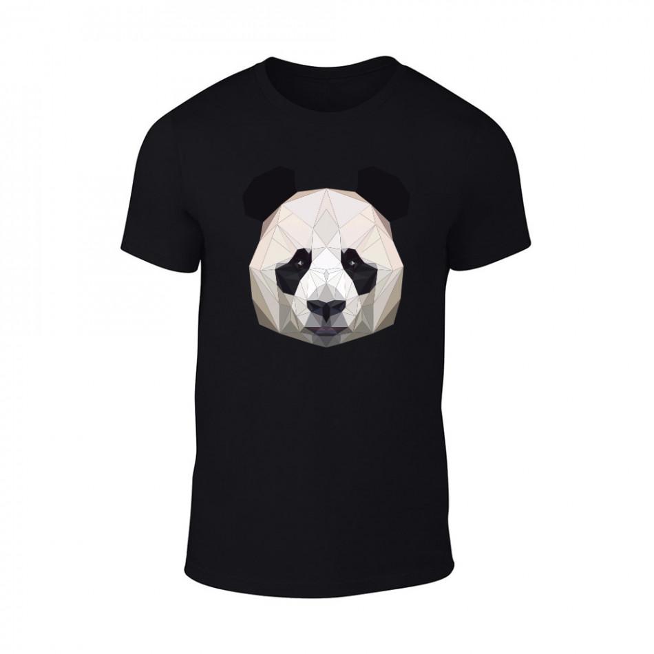 Мъжка черна тениска Panda TMN-M-194