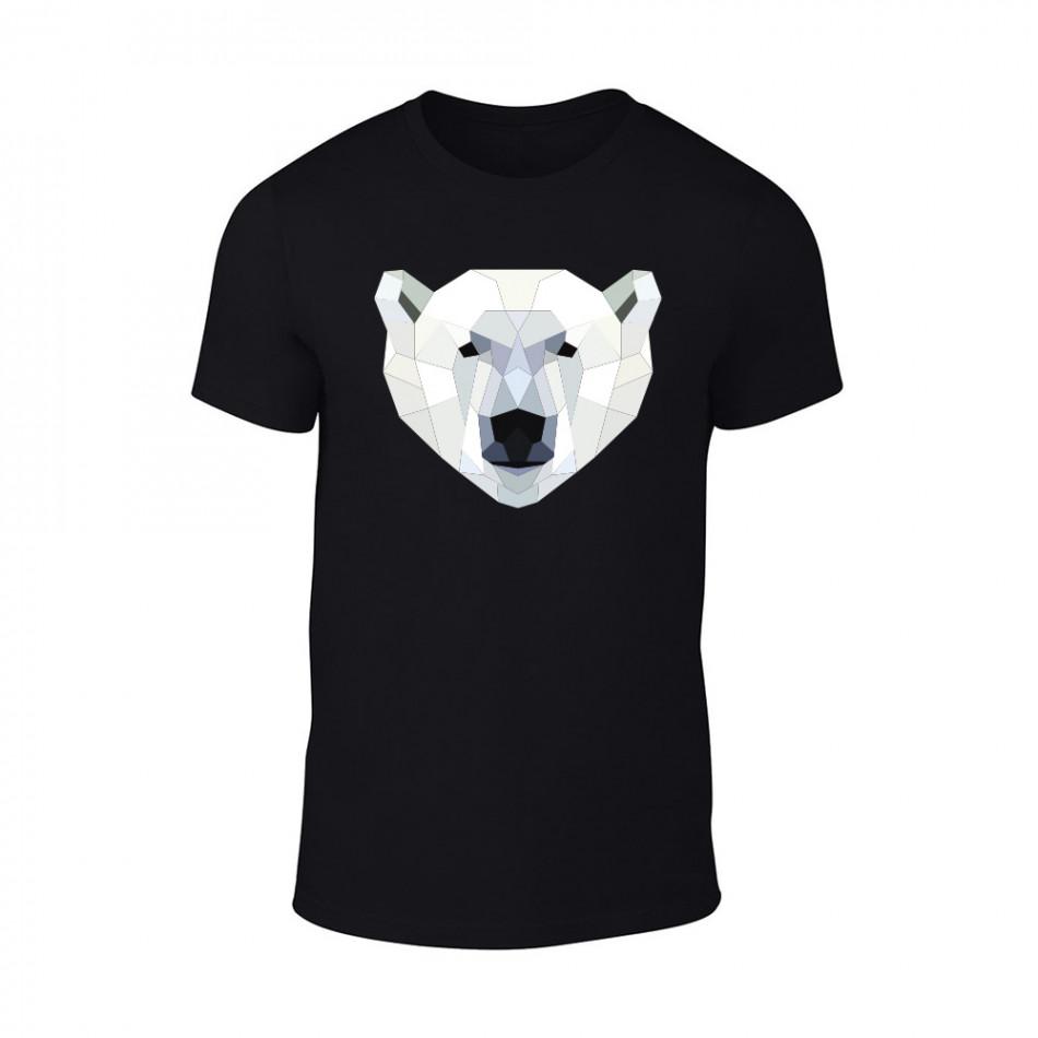 Мъжка черна тениска Polar Bear TMN-M-200