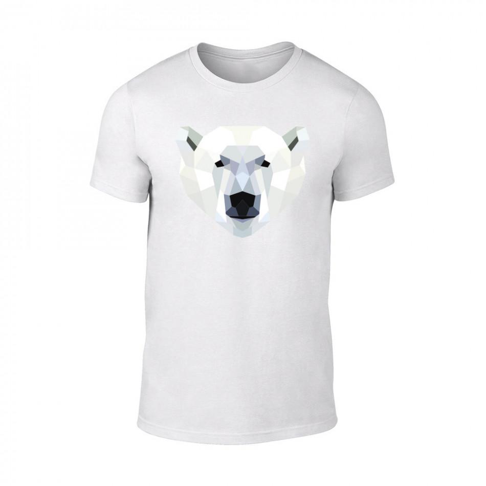 Мъжка бяла тениска Polar Bear TMN-M-199