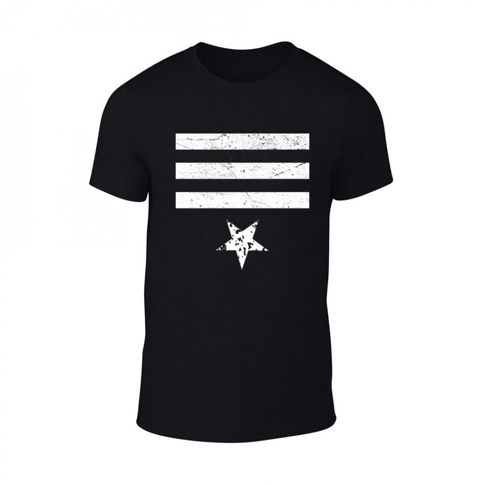 Мъжка черна тениска Star 3 TMN-M-086