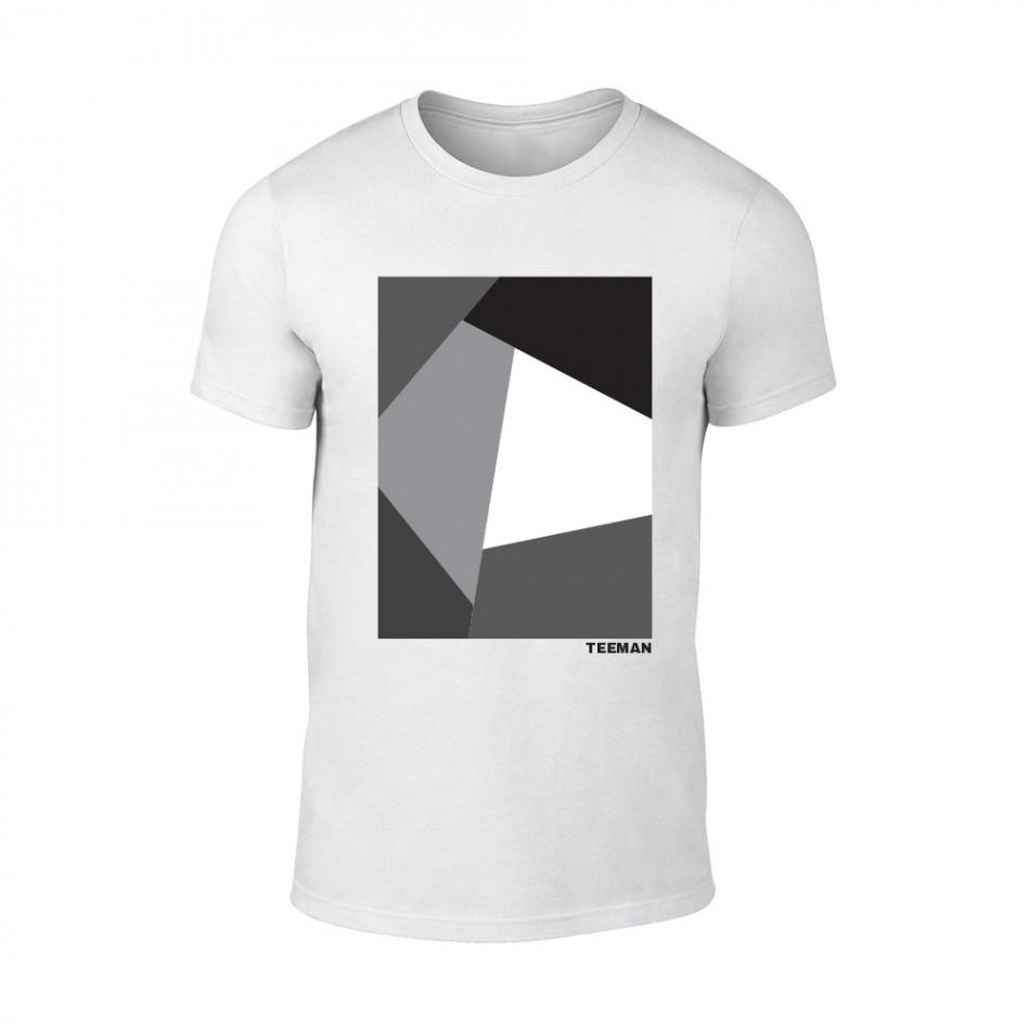 Мъжка бяла тениска Teeman TMN-M-071
