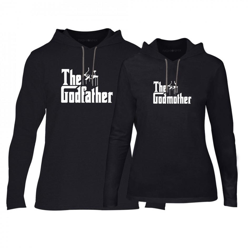 Суичъри за двойки Godfather & Godmother в черно TMN-CPS-063
