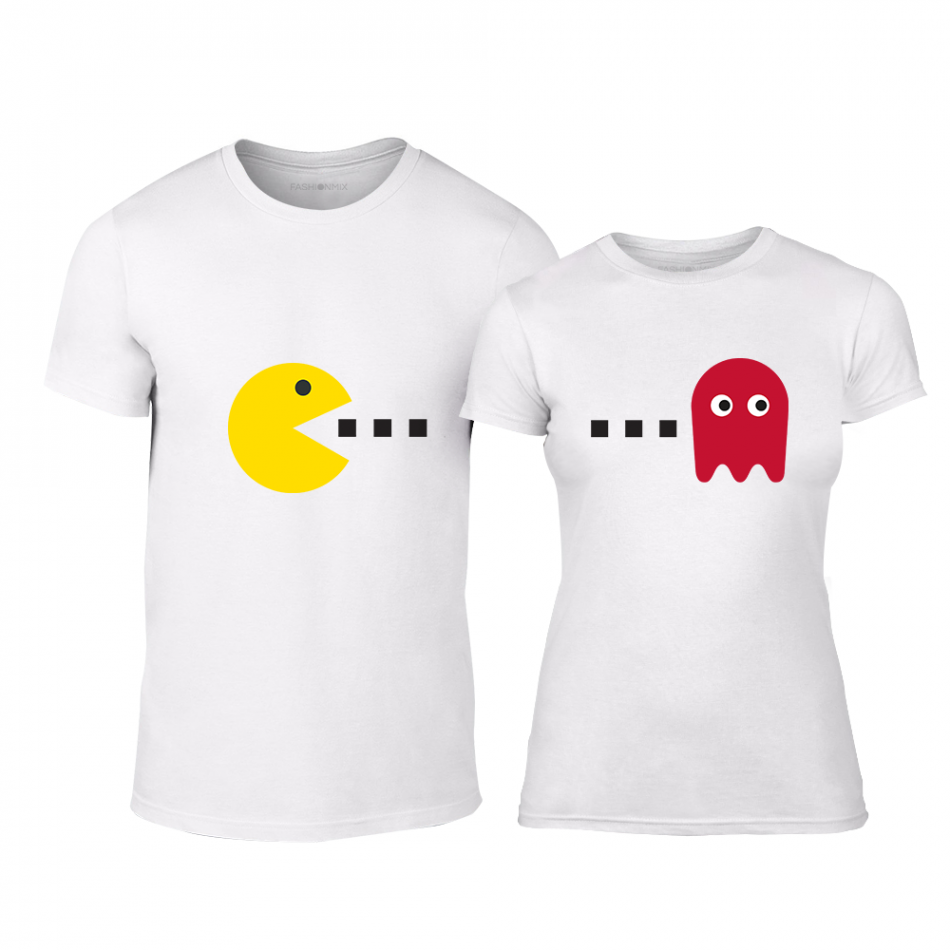 Тениски за двойки PacMan бели TMN-CP-233