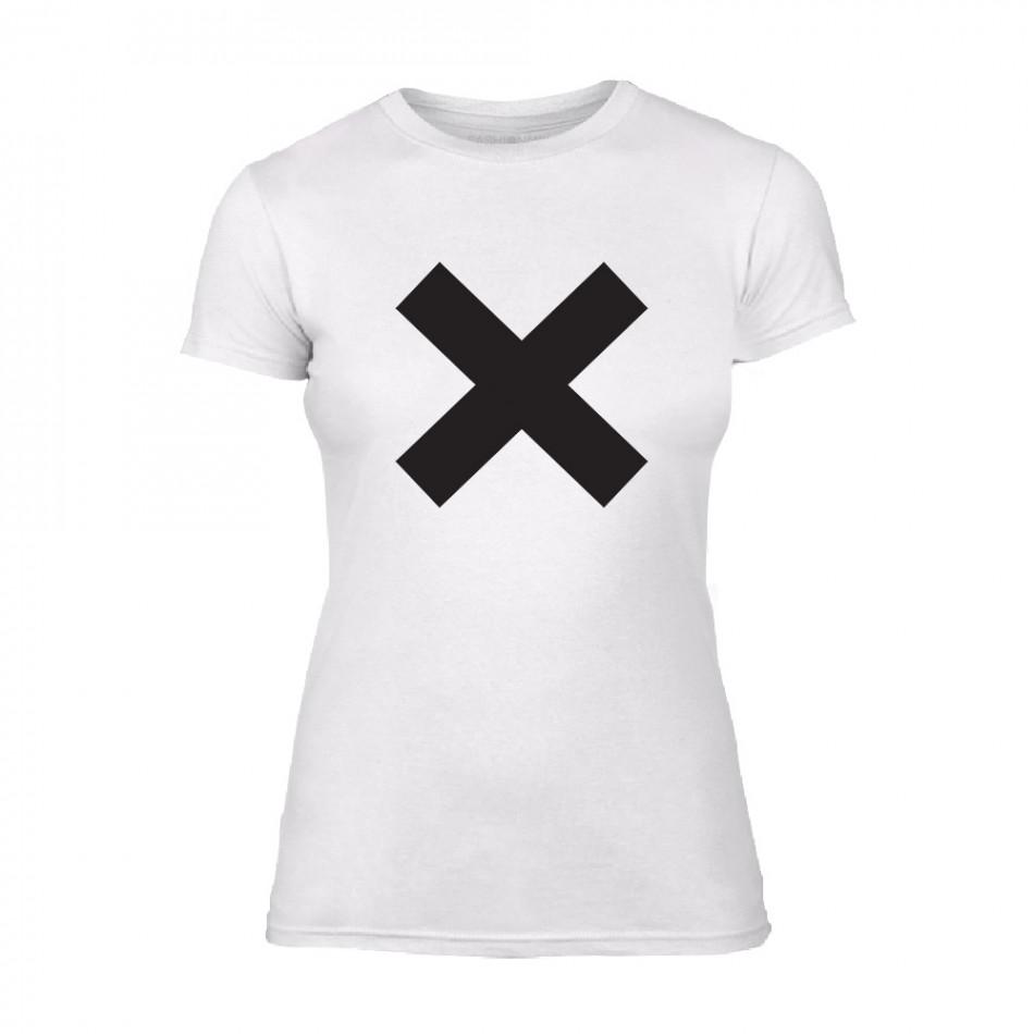 Дамска бяла тениска X TMN-F-065
