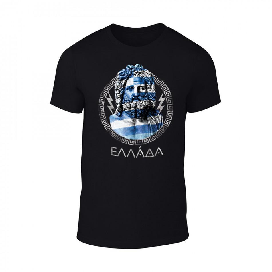 Мъжка черна тениска Zeus TMN-M-060